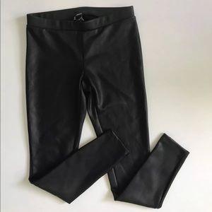 Express black leather Faux leggings size S
